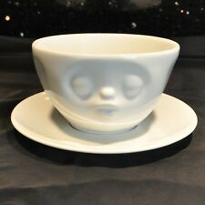 58 Products German Kissing Face Cup Saucer Large White Porcelain Coffee Tea Coco