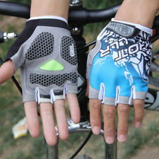 Cn _ MTB Ciclismo Bicicleta Gel de Silicona Almohadilla Guantes Antigolpes