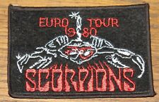 SCORPIONS EURO TOUR 1980 ORIGINAL EMBROIDERED WOVEN CLOTH SEWING SEW ON PATCH