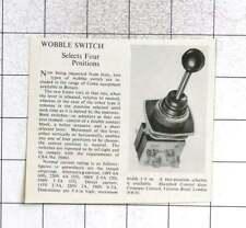 1961 4-position Wobble Switch By Shawford Control Gear Co Ltd
