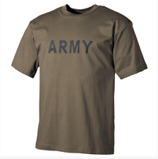 ARMY OLIVE GREEN MILITARY COMBAT 100% COTTON T-SHIRT WORKOUT TRAINING