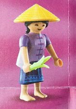 Playmobil Mystery Figure Series 10 6841 Chinese Woman Asian Straw Hat NEW