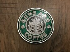 Nypd Green shamrock  Guns and Coffee  Challenge Coin
