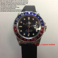 Custom 20mm Steel Strap End Links fits Rolex GMT II Made in USA 16710 1675 16700