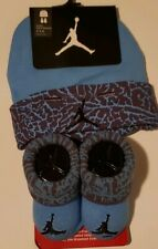 Nike Air Jordan Boys Infant Cap & Booties Set Size 0 - 6 Months