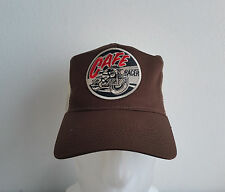 CAFE RACER, casquette,, Trucker Cap, marron, biker, BSA, old school, Triumph, vintage