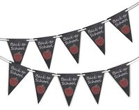 Back to School - Black Board - Bunting Banner 15 flags by PARTY DECOR