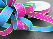 "10 yards Double Sided Woven Grosgrain Polka Dot 3/8"" Ribbon/Craft R55-Pick Color"