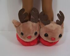 "Rudolph The Red Nose REINDEER Slippers Doll Shoes For 14"" Wellie Wishers (Debs)"