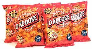 JAY'S O'KE DOKE Hot Cheese Flavored Popcorn A Chicago Original 5 Pack 1 oz bags