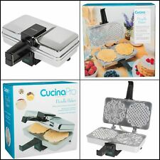 Pizzelle Maker Polished Electric Pizzelle Baker Press Two 5-Inch Cookies at Once
