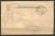AUSTRIA / ITALY. 1917. WW1. FPO 409. FELDPOST. CAVALRY MEDICAL UNIT GREEN CACHET