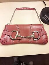 Rina Rich Dark Pink/Rose Color With Chain Strap And Clutch Snap