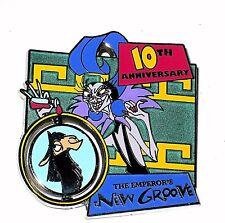 RARE LE Disney Pin✿Emperor's New Groove Yzma Villain SPINS Llama 10 Anniversary