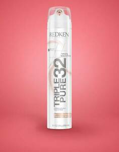 Redken Triple Pure 32 Extreme High-Hold Hairspray 9.1 oz NEW FAST SHIPPING