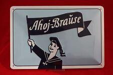 Blechschild 20x30cm Ahoi Brause Pulver Kult retro Vintage geprägte Qualität