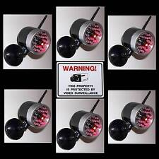 LOT OF FAKE DUMMY CAMS CCTV SPY HOME SECURITY CAMERAS+LED LIGHT+WARNING STICKERS