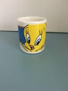 Vintage 1998 Tweety Bird  By LOONEY-TUNES   Cup / Mug Yellow Blue