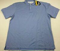Nautica Men's Performance True Deck Polo Shirt Size XXL Classic Fit Light Blue