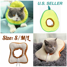 Us Pet Anti-bite Recovery Collar Toast bread Avocado Soft Neck Cone For Dog Cat