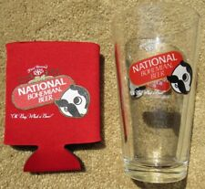 National Bohemian Beer Pint Glass & Koozie Brand NEW 2 Sided Natty Boh MD