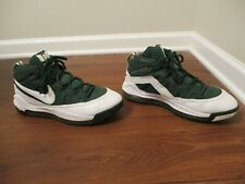 Classic 2008 Used Worn Size 12 Nike Power Max TB Basketball Shoes Green & White