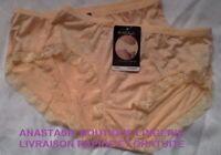 lingeriesousvêtementfemme 40 lot 2 boxers coton taille hautefinitiondentellenude