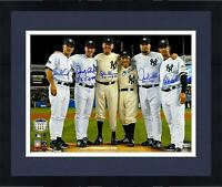 """Frmd Yankees Perfect Game Pitchers and Catchers Signed 16"""" x 20"""" Photo & Inscs"""
