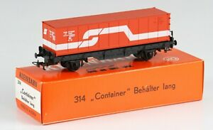 Kleinbahn OO / HO Gauge 314 40ft Container wagon 'OBB', boxed