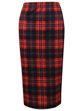 Topshop Check Straight, Pencil Skirts for Women