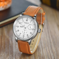 Parnis Power Reserve Indicator Automatic Mechanical Men Watch Stainless Case New