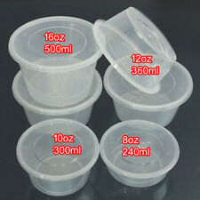 Clear Plastic best Containers Round Tubs with Lids Microwave Food Safe Takeaway