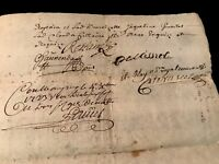 1723 Signed and Handwritten Document
