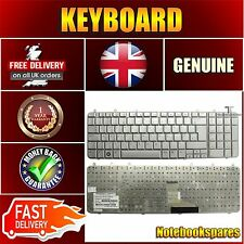 For HP PAVILION DV7-1170EZ DV7-1170US Keyboard with UK Layout Silver No Frame