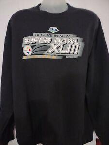 NWT Pittsburgh Steelers Super Bowl XLIII Black XL Sweatshirt - NFL Team Apparel