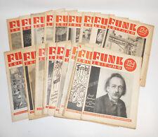 Konvolut Funk Zeitungen 1934 / 1935 !