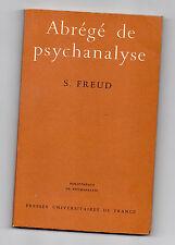 Abrégé de Psychanalyse  Par S.Freud