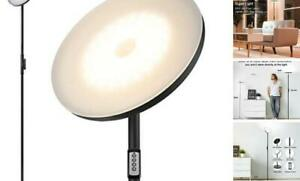 Floor Lamp,30W/2400LM Sky LED Modern Torchiere 3 Color Temperatures Super Bright