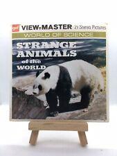 3 View Master Reels - Stranger Animals of the World - B615  - 🎞️