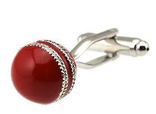 Men's Cufflinks Red Cricket Ball Cuff links 14mm  3792