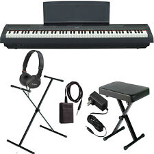 Yamaha P-125 Black COMPLETE BUNDLE Digital Piano W/ Stand, Bench, and More *New*