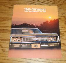 Original 1969 Chevrolet Full Size Car Sales Brochure 69 Chevy Impala Caprice