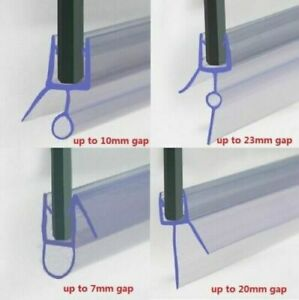 Shower Seal Strip | 4 to 6mm Glass | Up to 30mm Gap | Bath Screen Door | Clear