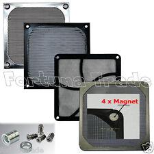Lüfter Filter Staub Gitter 80 90 120 140 mm PC Matte Magnet Halterung Schrauben