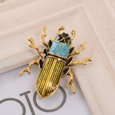Charming Enamel Bug Brooches Lapel Pin Retro Steampunk Insect Style Breast Pin