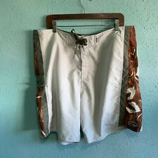 Quicksilver Edition Mens Boardshorts Hawaiian Print Size 40