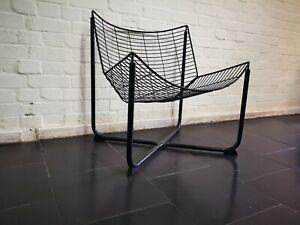 Mid Century Vintage IKEA Chair Black Wire Chair by Niels Gammelgaard