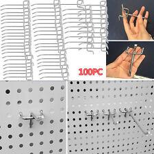 100 pcs Peg Board Hooks Ball Tip Garage Workshop Hanging Tool Display Usa Oy