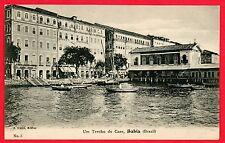 BAHIA, BRAZIL ~ UM TRECHO DO CAES, 1908 Postcard~