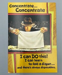 New Dad To Be Indiana Jones Father's Day Hallmark Greeting Card Diaper Changes